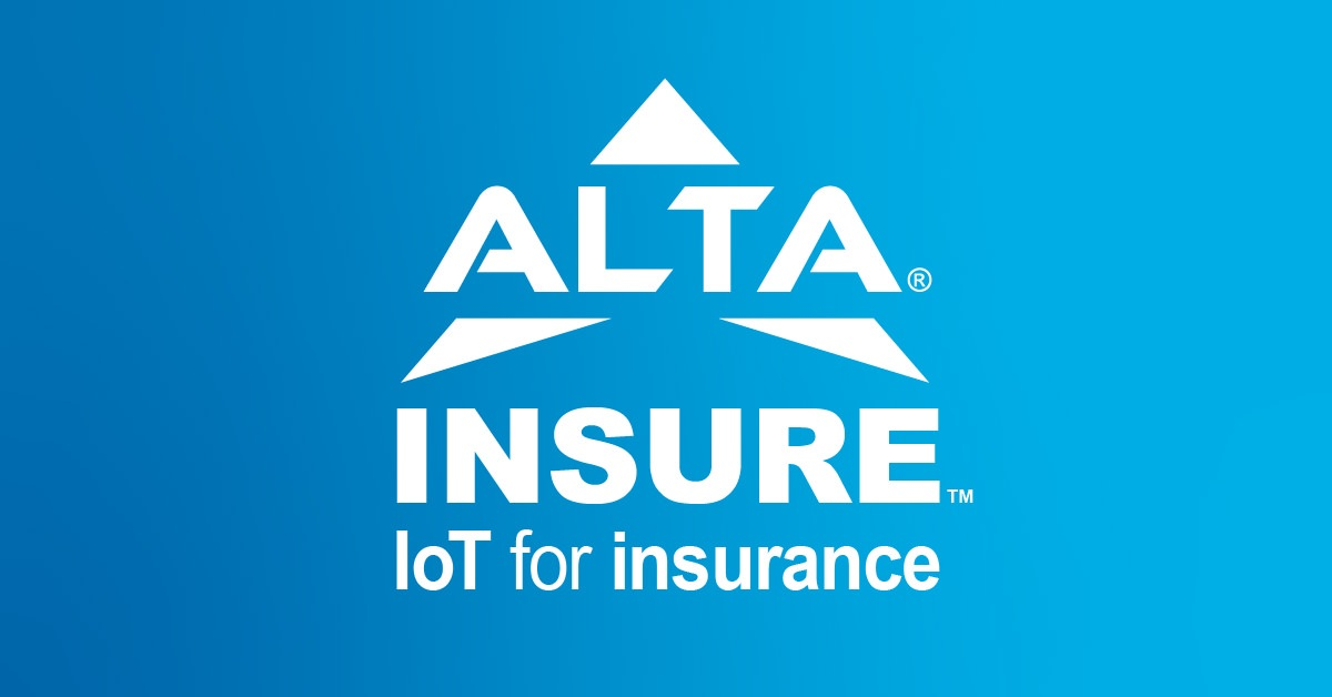 ALTA Insure Logo with the text 'IoT for insurance'