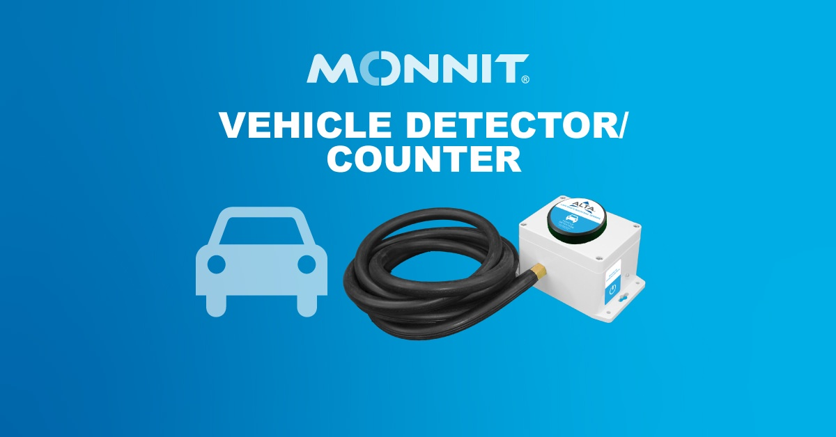 Monnit ALTA Wireless Vehicle Detector-Counter and Monnit Logo