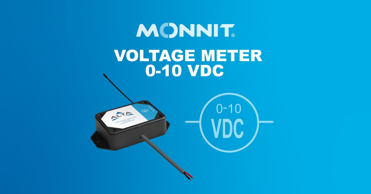 Monnit ALTA Wireless Voltage Meter 0-10 VDC with Monnit Logo