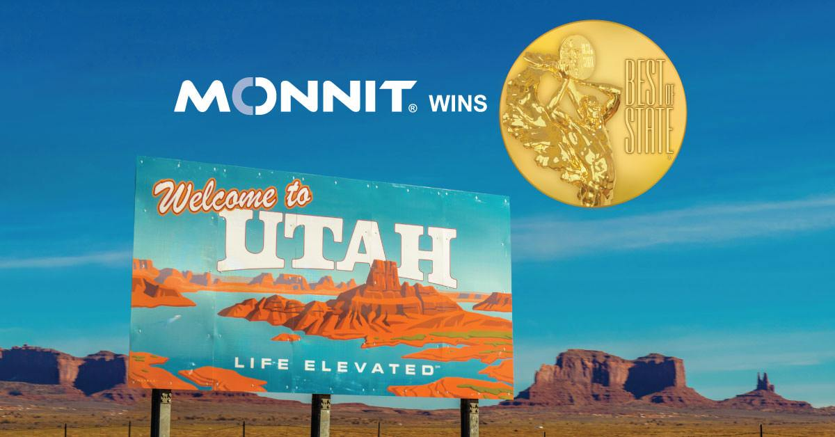 Monnit wins Best of State (Monnit Logo and the Best of State Medallion)