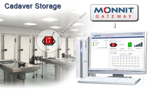 Monnit Wireless Sensor Solutions for Cadaver Storage Cooler Temperature Monitoring