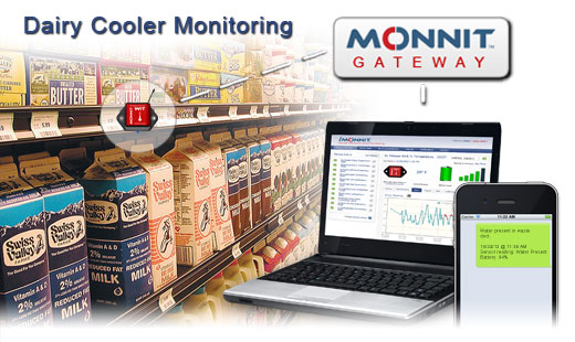 Monnit Wireless Sensor Solutions for Dairy Cooler Temperature Monitoring