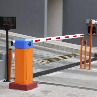 Parking lot gate arm