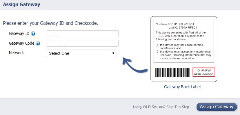 Assign Gateway