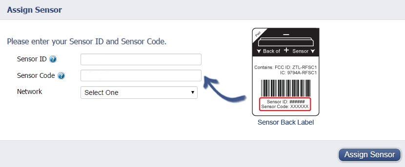 Assign Sensor