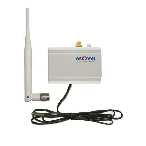Monnit Wi-Fi Temperature Sensor With 3 Ft Probe and High Gain Antenna