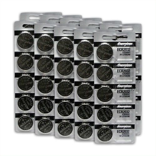 replacement coin cell batteries 50-pack