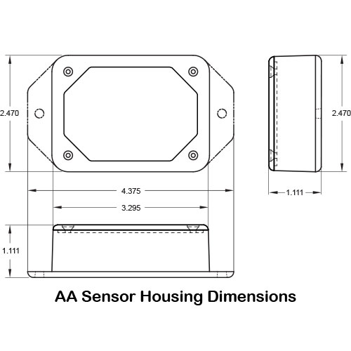 AA sensor housing dimensions