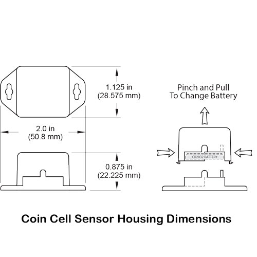 Coin Cell sensor housing dimensions