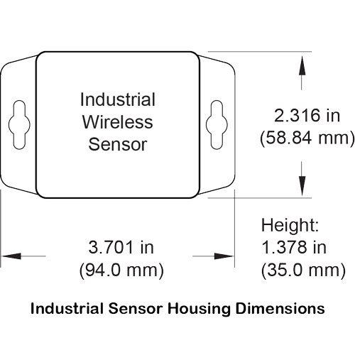 Industrial sensor housing dimensions