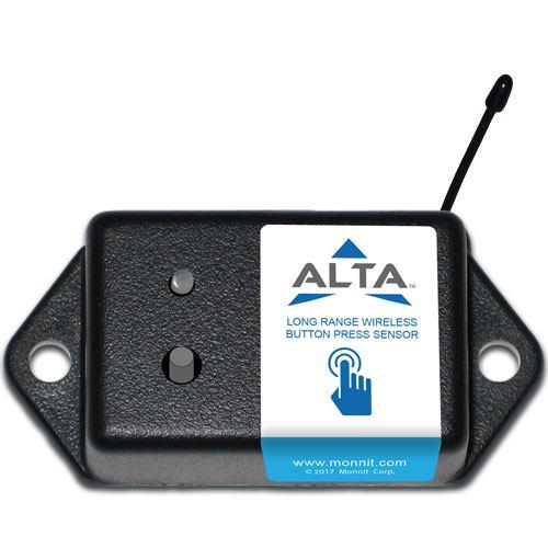 Coin cell button press sensor