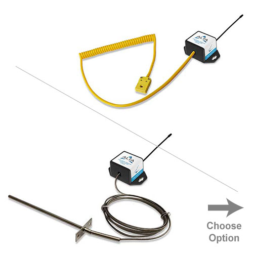 wireless coin cell thermocouple options