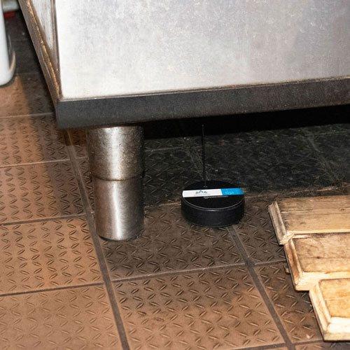 Water detection puck in restaurant kitchen